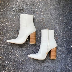 White Booties (Size 8)